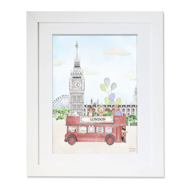 The Animals and Big Ben Personalised for Boys