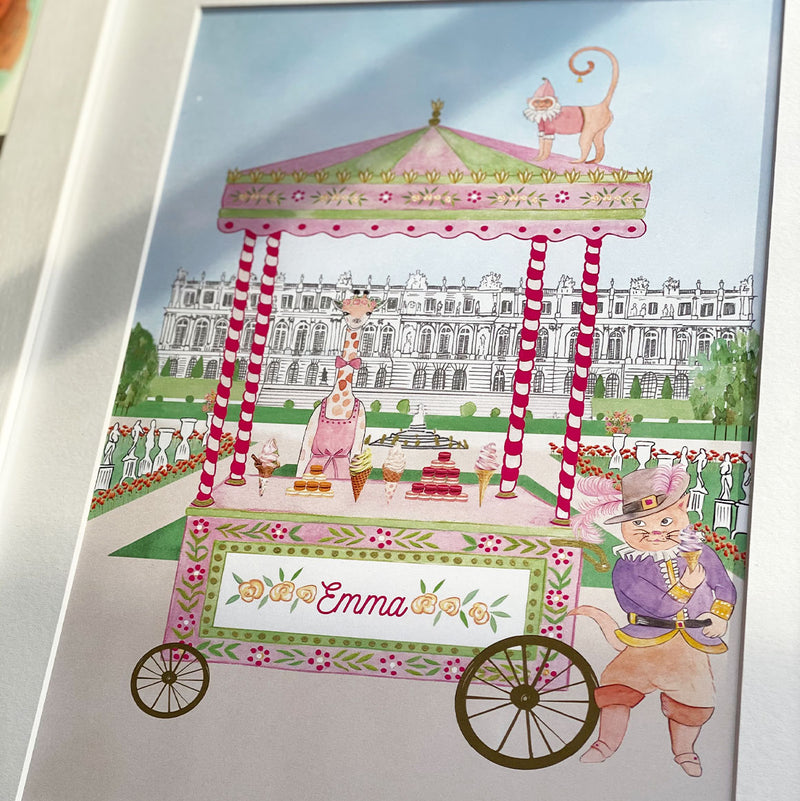 Personalised Animal Ice-Cream Stand in The Palace of Versailles for Girls