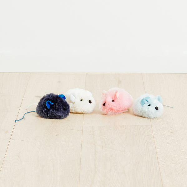 Navy Blue Mouse Plush