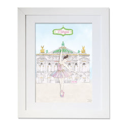 Personalised Ballerina of The Opera Illustration
