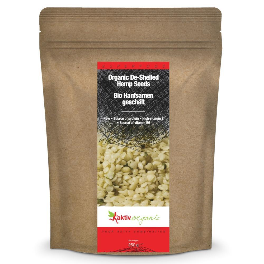 Hemp Seeds De-shelled, Organic