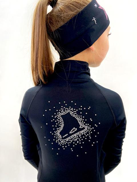 Black Skate Jacket - Crystal