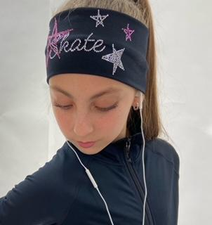 Black Skate Like a Star Headband - Pink