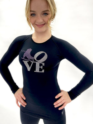 Black Skate Love Top - Purple