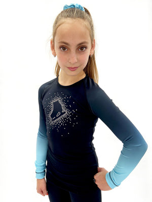 Faded Pastel Sprinkle Skate Top - Blue