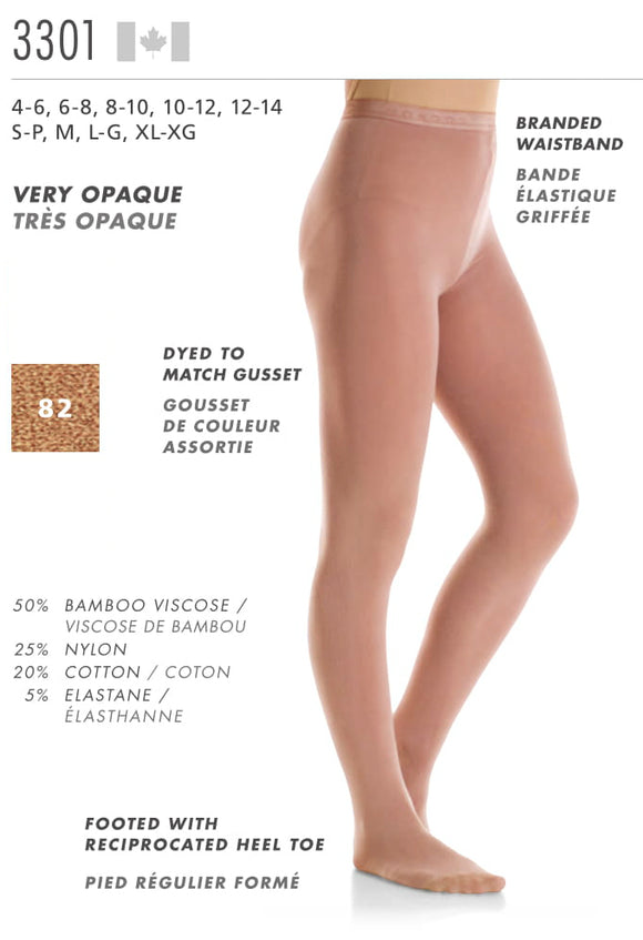 MONDOR - Footed Natural Bamboo Tights (3301)