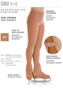 MONDOR - Boot Cover Natural Bamboo Tights (3302)