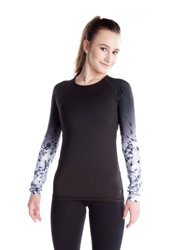 Shirt with Sublimated Sleeves - Black Crystal - House of Skates
