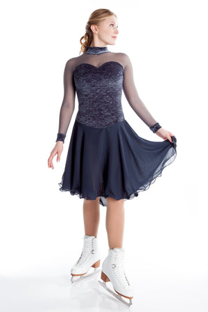 Grey Crinkle Dance Dress - House of Skates