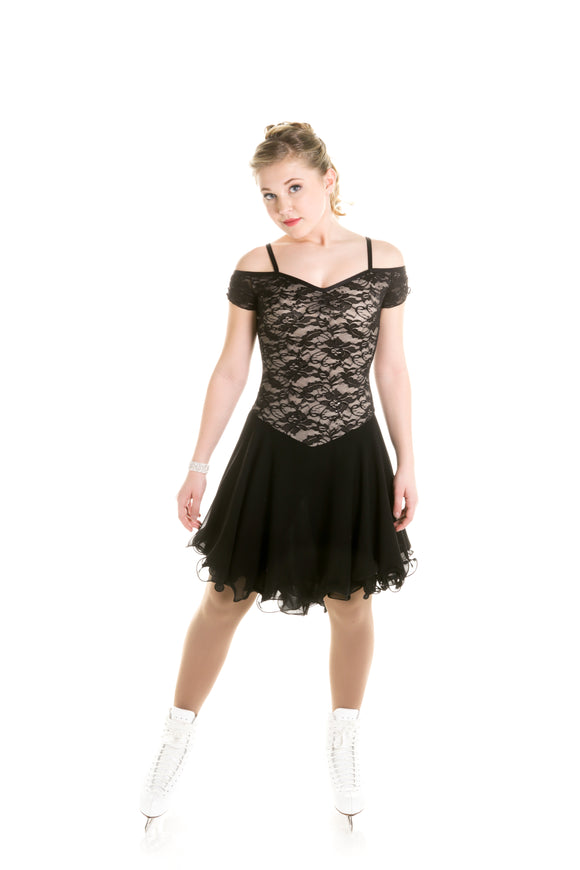 Black dance dress