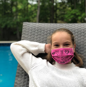 Pink Heart Mask
