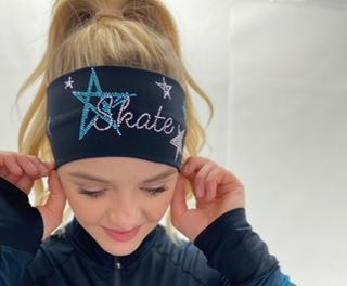 Black Skate Like a Star Headband - Turquoise