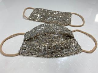 Festive Silver Sequence -Mask