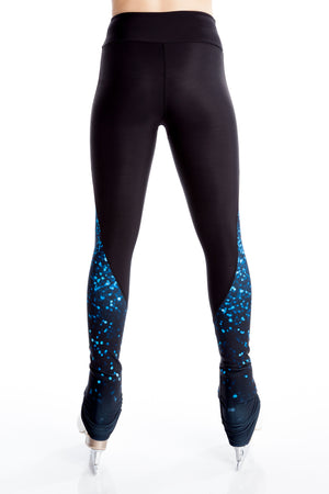 Legging with Inserts - Blue Sparkle - House of Skates