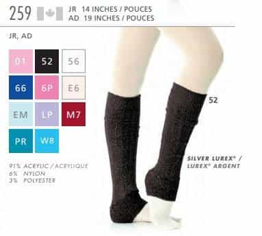 Leg Warmers 259 - 19 Inches