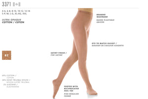 MONDOR - Footed Natural Satiny Tights (3371)