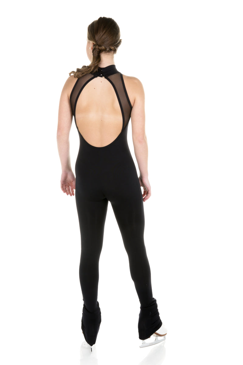 One Piece in Supplex with Mesh Inserts - Black - House of Skates