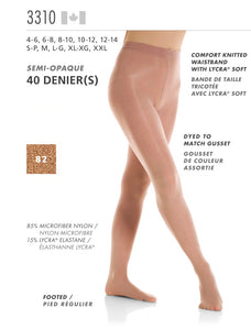 MONDOR - Footed Performance Tights (3310)