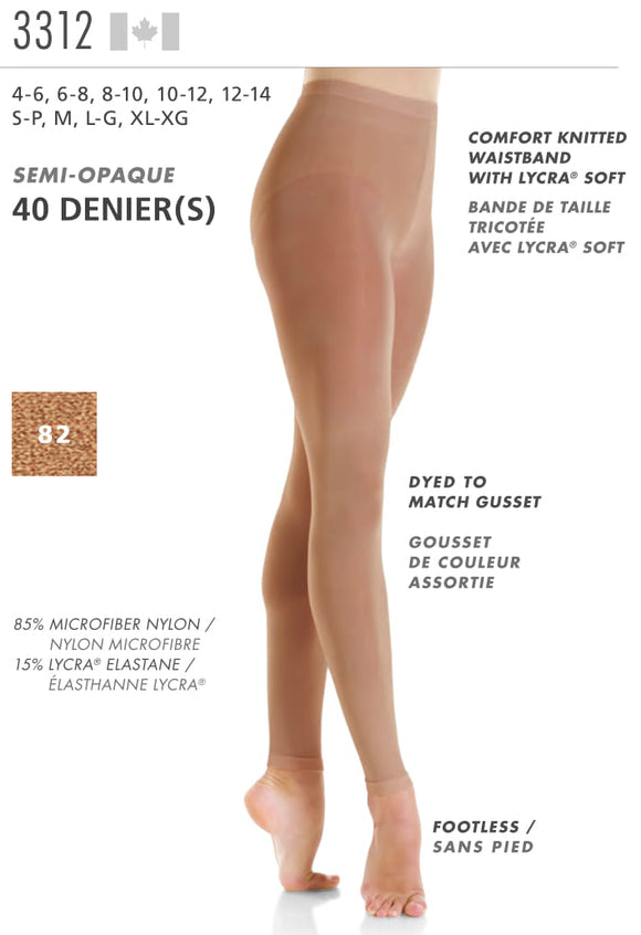 MONDOR - Footless Performance Tights (3312)