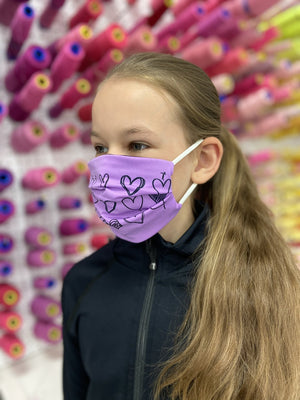 Lilac Heart Mask