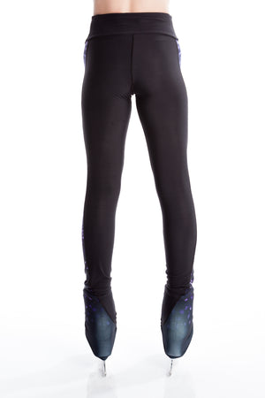 Legging with Inserts - Purple Sparkle - House of Skates