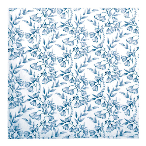 Blue Damask Napkins - Set of 2