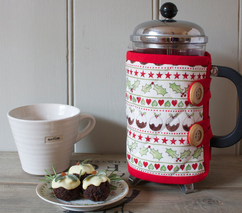 Christmas Pudding Cafetiere Cosy