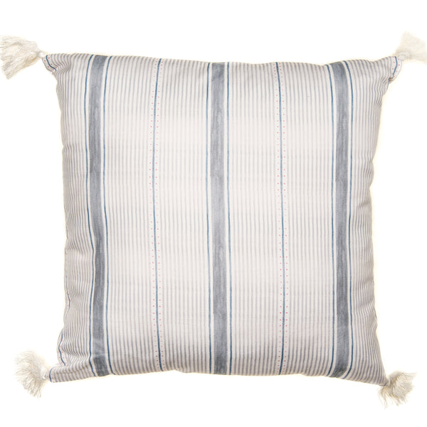 Large Grey Striped Cushion