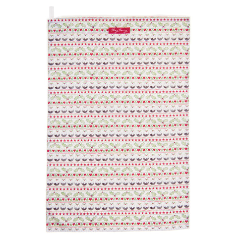 Christmas Pudding Tea Towel