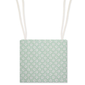 Sage Green Ditsy Floral Garden Chair Seat Pad