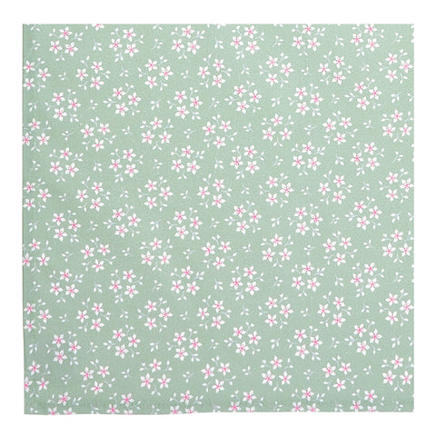 Sage Green Floral Napkins - Set of 2