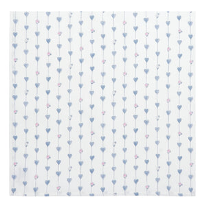 Grey Hearts & Roses Napkins - Set of 2