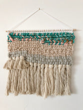 "Load image into Gallery viewer, Teal Wall Hanging 12"" x 15"""