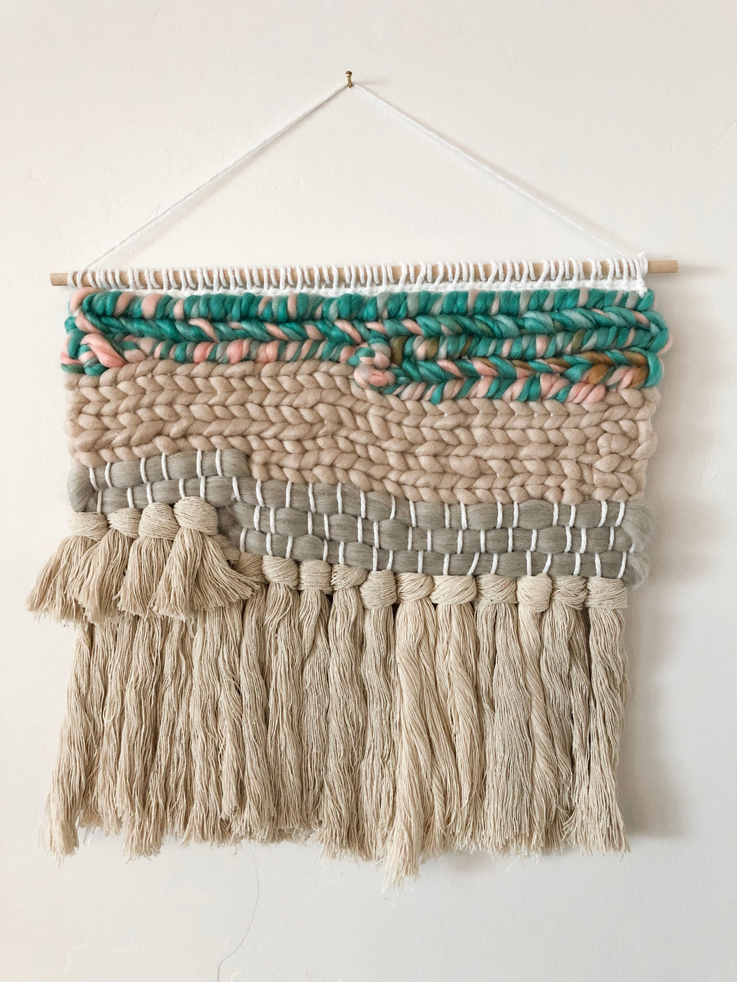 Teal Wall Hanging 12