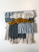 "Load image into Gallery viewer, Blue & Gold Wall Hanging 16"" x 17"""