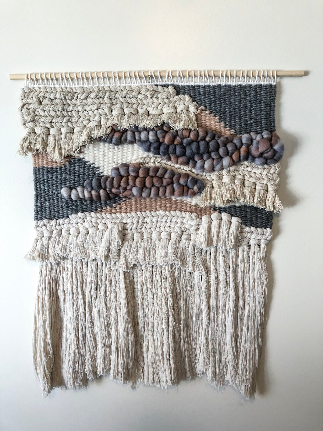 Grey & Blush Wall Hanging 19