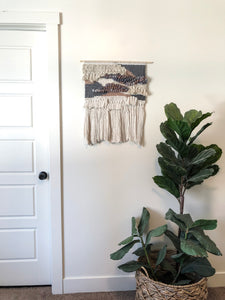 "Grey & Blush Wall Hanging 19"" x 24"""