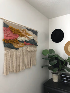 "XL Sunset Wall Hanging 33"" x 28"""