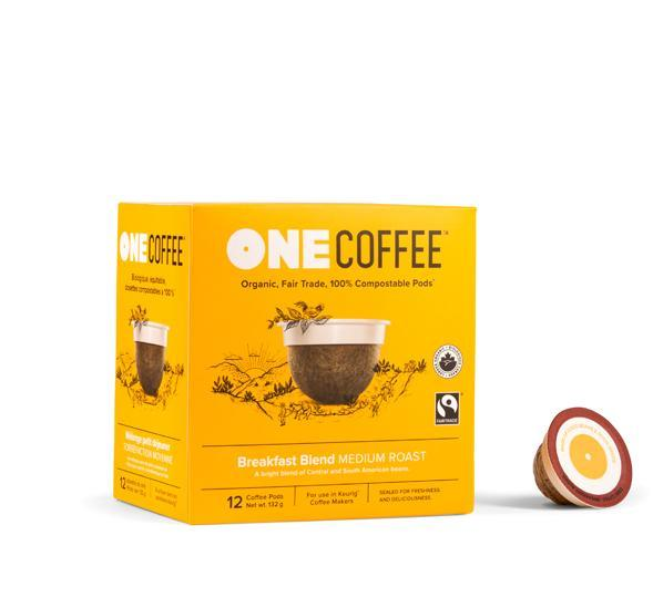 Breakfast Blend OneCoffee Single Serve Cups (12 cups)