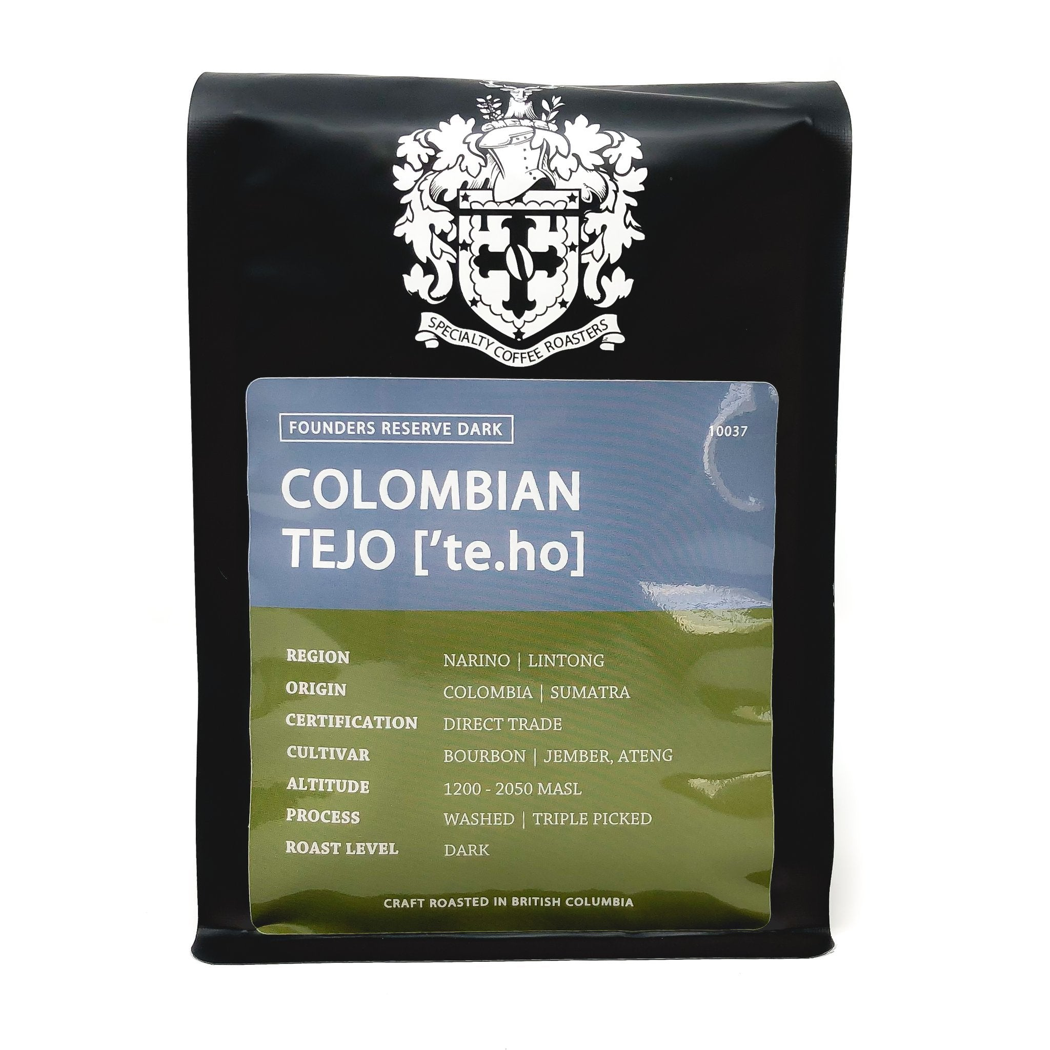 Crest Colombian Tejo - Dark Roast - 2lb  (WHOLE BEAN ONLY)