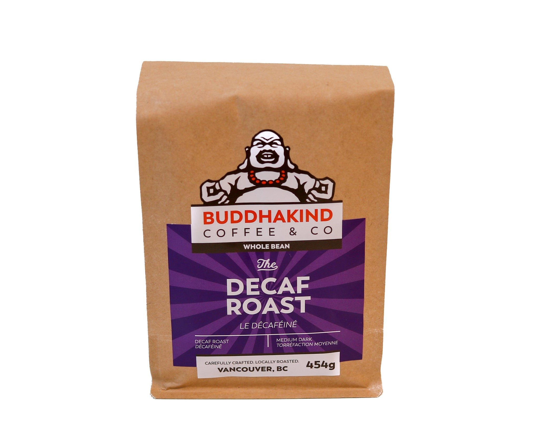 Buddhakind Decaf  - 1lb bag - Whole Bean