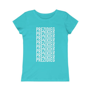 """Prezidieg All Over"" Girls Princess Tee"