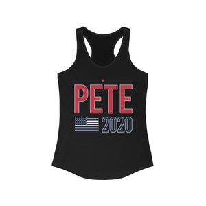 Pete2020 Flag Women's Ideal Racerback Tank - mayor-pete