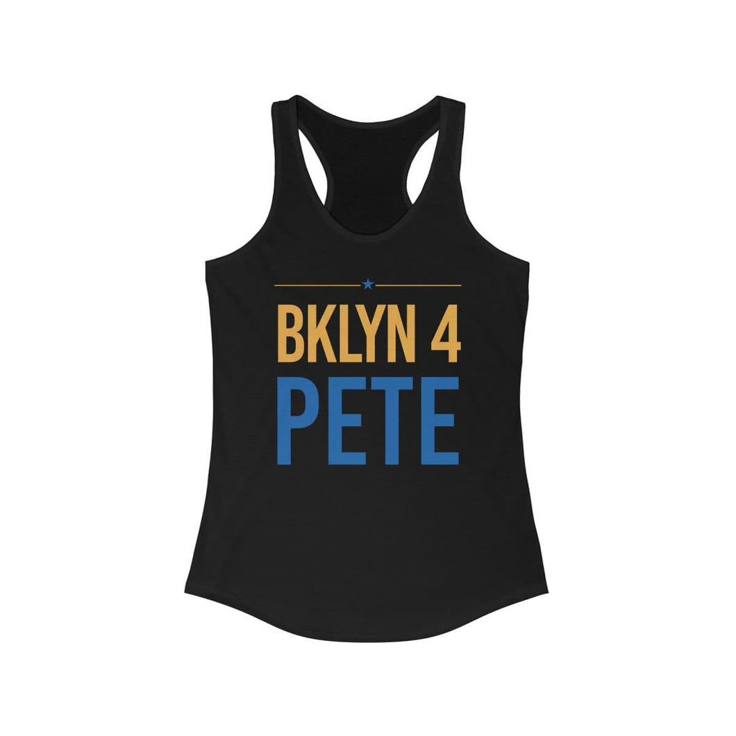 BKLYN 4 Pete - Women's Ideal Racerback Tank - mayor-pete