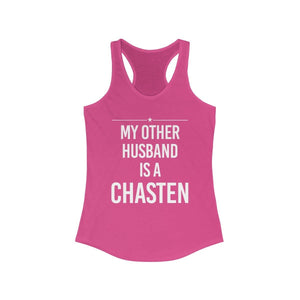 """My Other Husband is a Chasten"" - Women's Ideal Racerback Tank - mayor-pete"