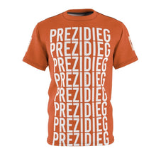 "Load image into Gallery viewer, ""Prezidieg all over"" - Rust Belt - Cut & Sew Tee"