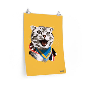 Happy Excited Cat Poster