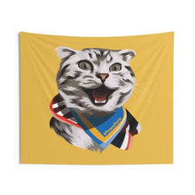 Load image into Gallery viewer, Happy Excited Cat - #TeamPete - Wall Tapestries