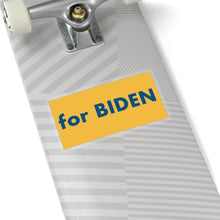 "Load image into Gallery viewer, ""for Biden"" add-on Stickers - River Blue on Heartland Yellow background"