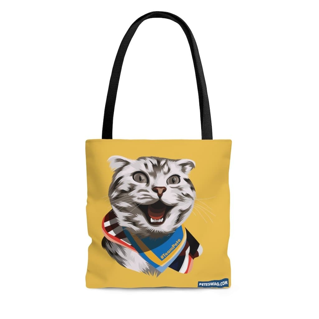 Happy Excited Cat - #TeamPete -  Tote Bag